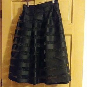 Ashley stewart satin and sheer skirt